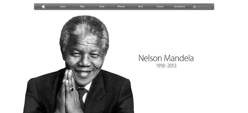 Homepage d'Apple dédiée à Nelson Mandela