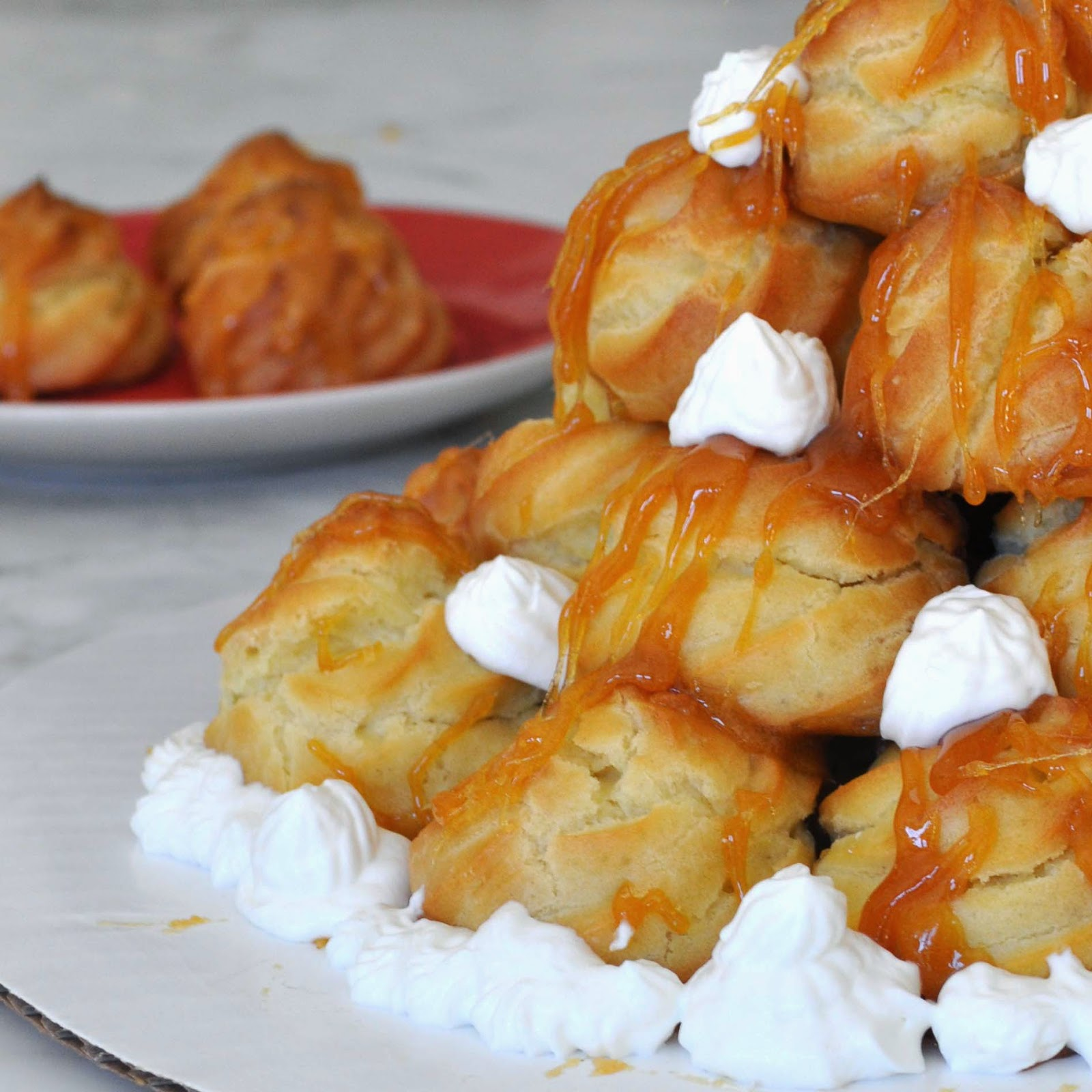 how to make a cream puff tower
