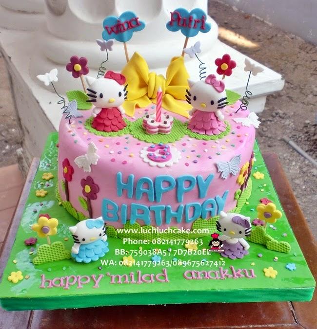Kue Tart Hello Kitty Cute Untuk Anak Daerah Surabaya - Sidoarjo
