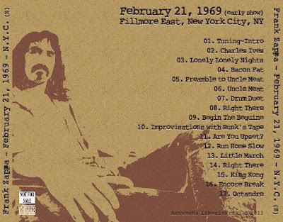 FZ 1969-02-21 New York City - Early Show