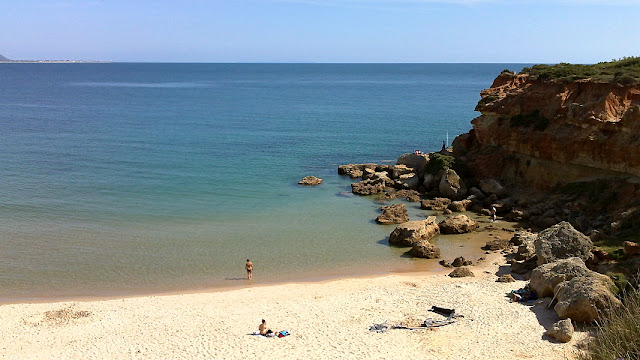 Cala del Aceite is de bekendste van de kleine baaitjes ten noorden van Conil de la Frontera