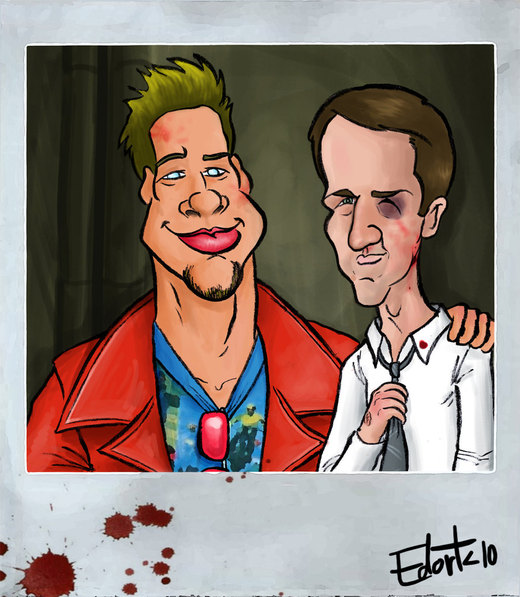 Fight Club caricature por edorta
