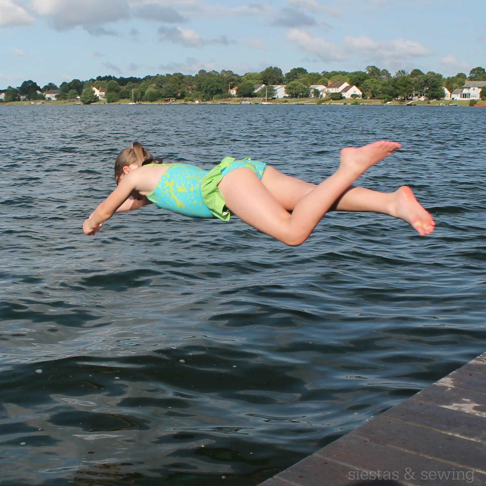Little Girl Swimming Wedgie.