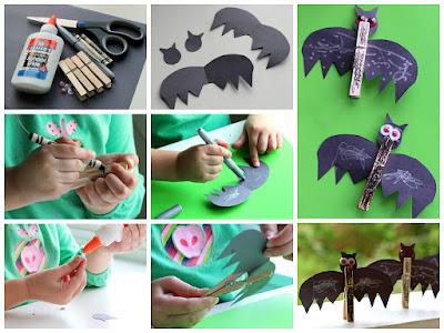 как сделать летучих мышей на хэллоуин своими руками