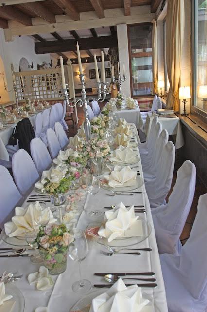 Festliche Hochzeitstafel im See-Restaurant, Seehaus am Riessersee, Garmisch