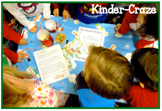 santa visited this classroom and left reindeer food! A holiday classic