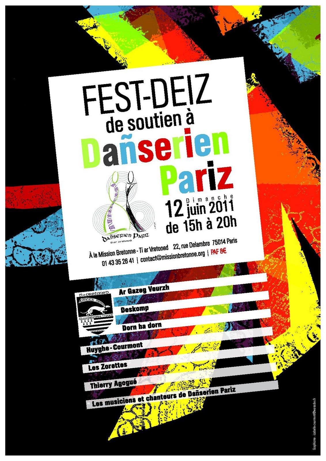 Fest-deiz de soutien à Dañserien Pariz le 12 juin 2011 à la Mission bretonne à Paris (75014)