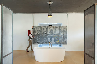 Barbara Hill Marfa Texas Dwell magazine bathroom