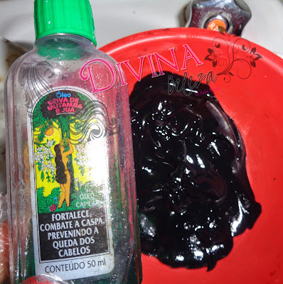 henê pelucia com óleo de mutamba