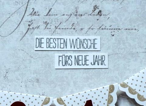 Sonja\'s Schnipselstudio: Die besten Wünsche fürs neue Jahr