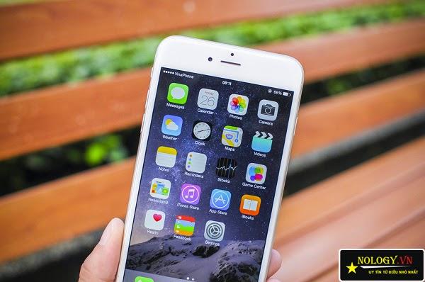 Trên tay chiếc điện thoại Iphone 6 plus 128gb trắng chính hãng