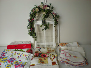 Bird Cage and Linens