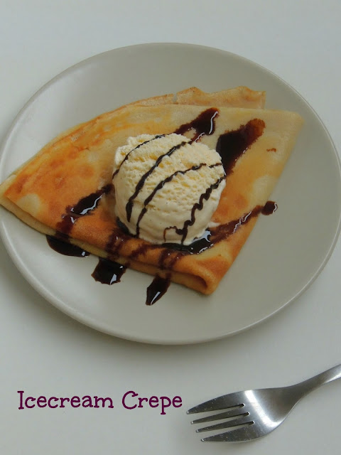 Icecream crepe, Crepe with Vanilla icecream