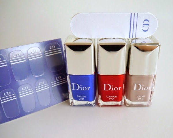 Dior Manucure Transat nail polish and couture stickers duo shades