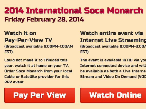 2014 International Soca Monarch LIVE STREAM TONIGHT