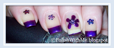 pure ice, no means no, french, manicure, flowers