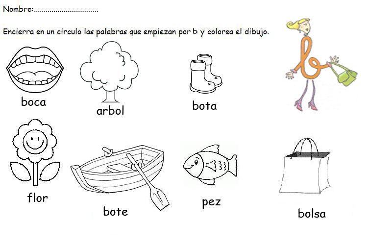 "MI CLASE DE INFANTIL: ACTIVIDAD LECTOESCRITURA LETRA ""B"""