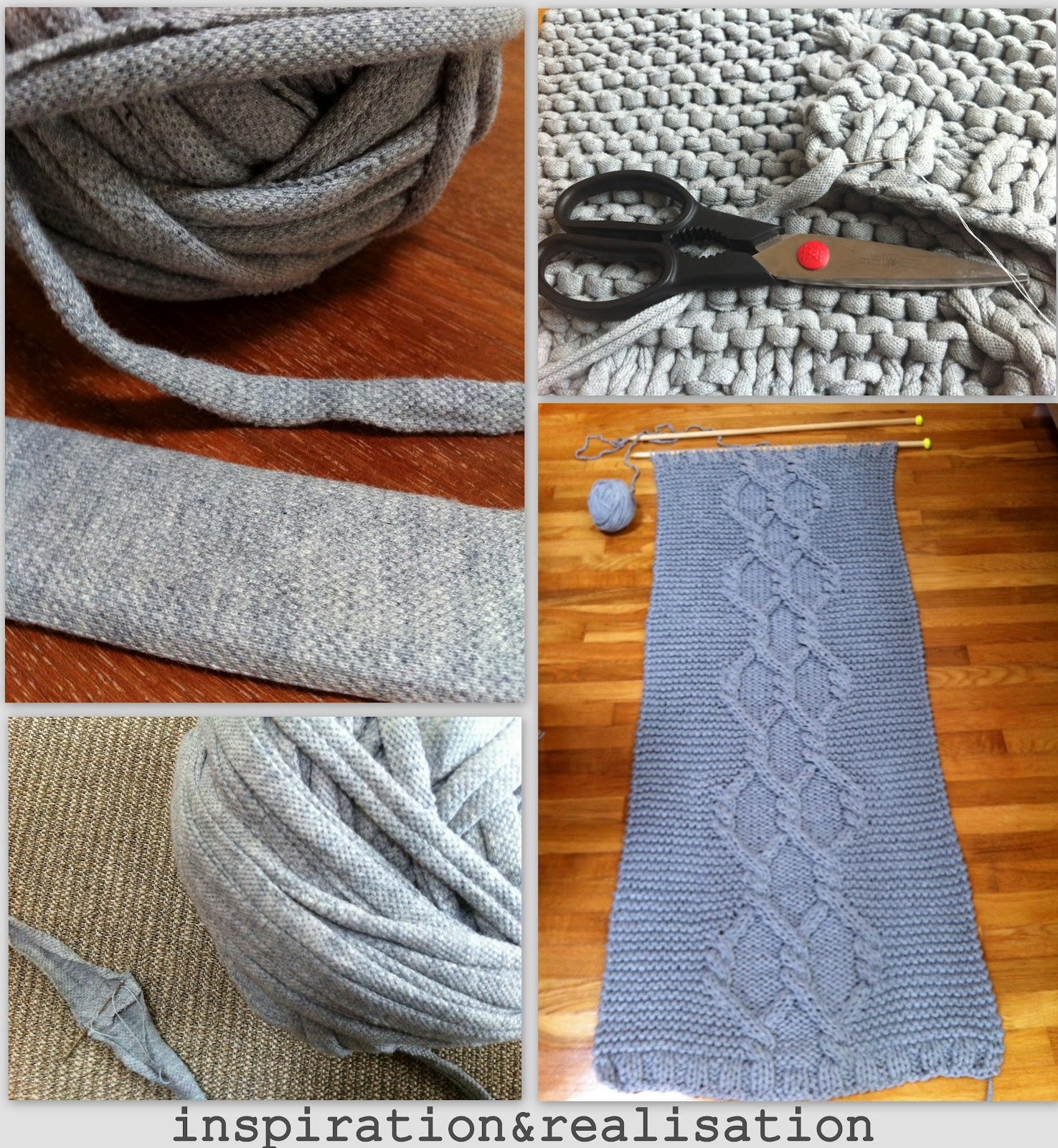 inspiration and realisation: DIY fashion blog: DIY giant knitted rug for Diy Carpet Yarn  181obs