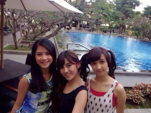 Foto Noella Sisterina Dengan Nabilah Dan Ayana JKT48
