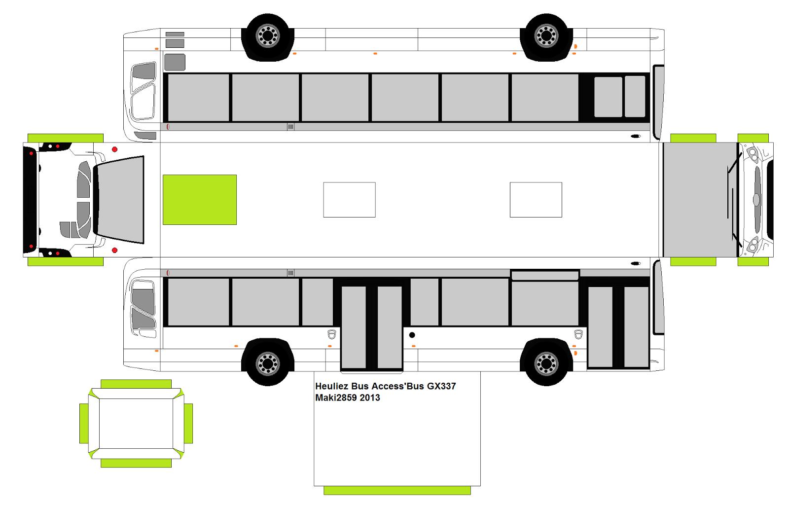 Papercraft Bus By Maki2859 Heuliez Bus Gx337 6