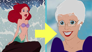 A re imaged version of Ariel shows what she looks like when she grows old