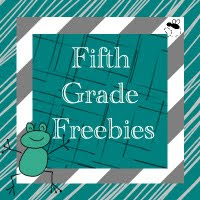 I'm a Collaborator for Fifth Grade Freebies!