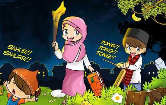 Ucapan Selamat Sahur, DP BBM Sahur, Kata Lucu Romantis Islami