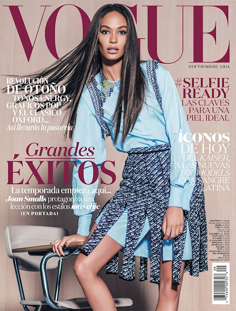 Fashion Model @ Joan Smalls by Russell James for Vogue Mexico, September 2015