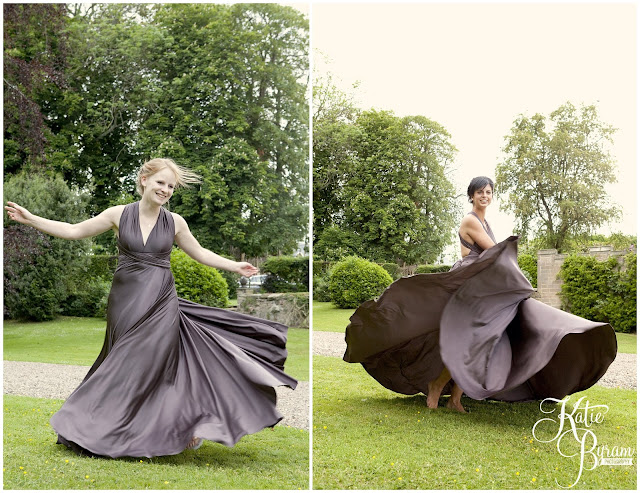 twobirds bridesmaid dresses, twobirds slate, ellingham hall, ellingham hall wedding, northumberland wedding photographer, newcastle wedding photographer, ceremony signs, paper pom poms, quirky wedding photography, katie byram photography, diy wedding