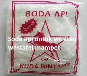 Soda api untuk wc atau wastafel mampet