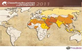 Classificação dos Países por Perseguição