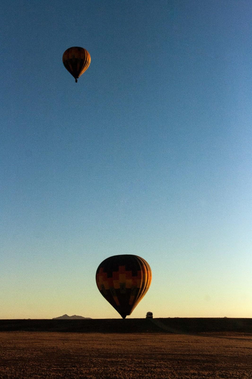 Air balooning namib desert namibia