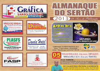 CAPA  DO ALMANAQUE  DO SERTAO JA PARA O ANO  2013