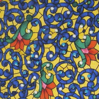 Embroidered Print Fabric