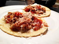 Healthy pulled pork tacos