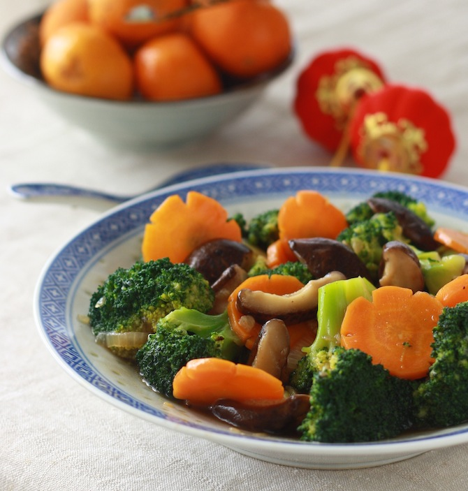 stir-fried broccoli and mushroom recipe