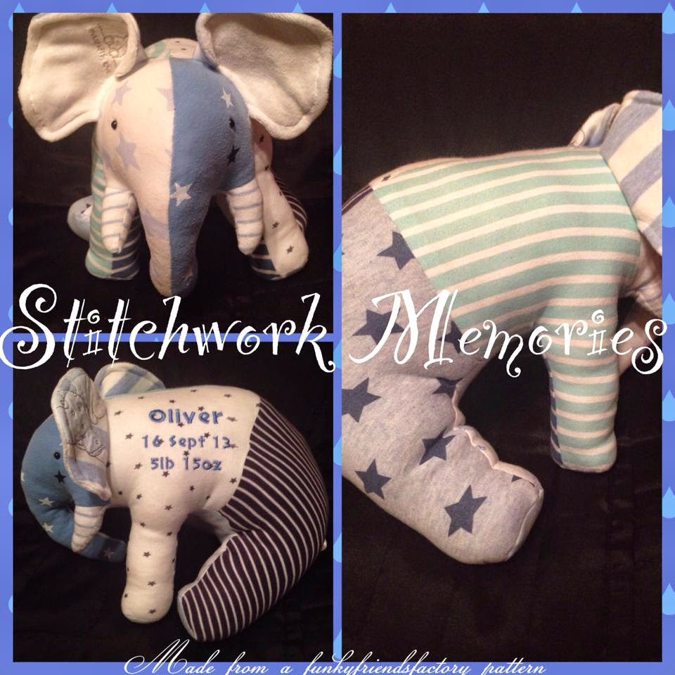Stitchwork memories, turning baby clothes into keepsakes