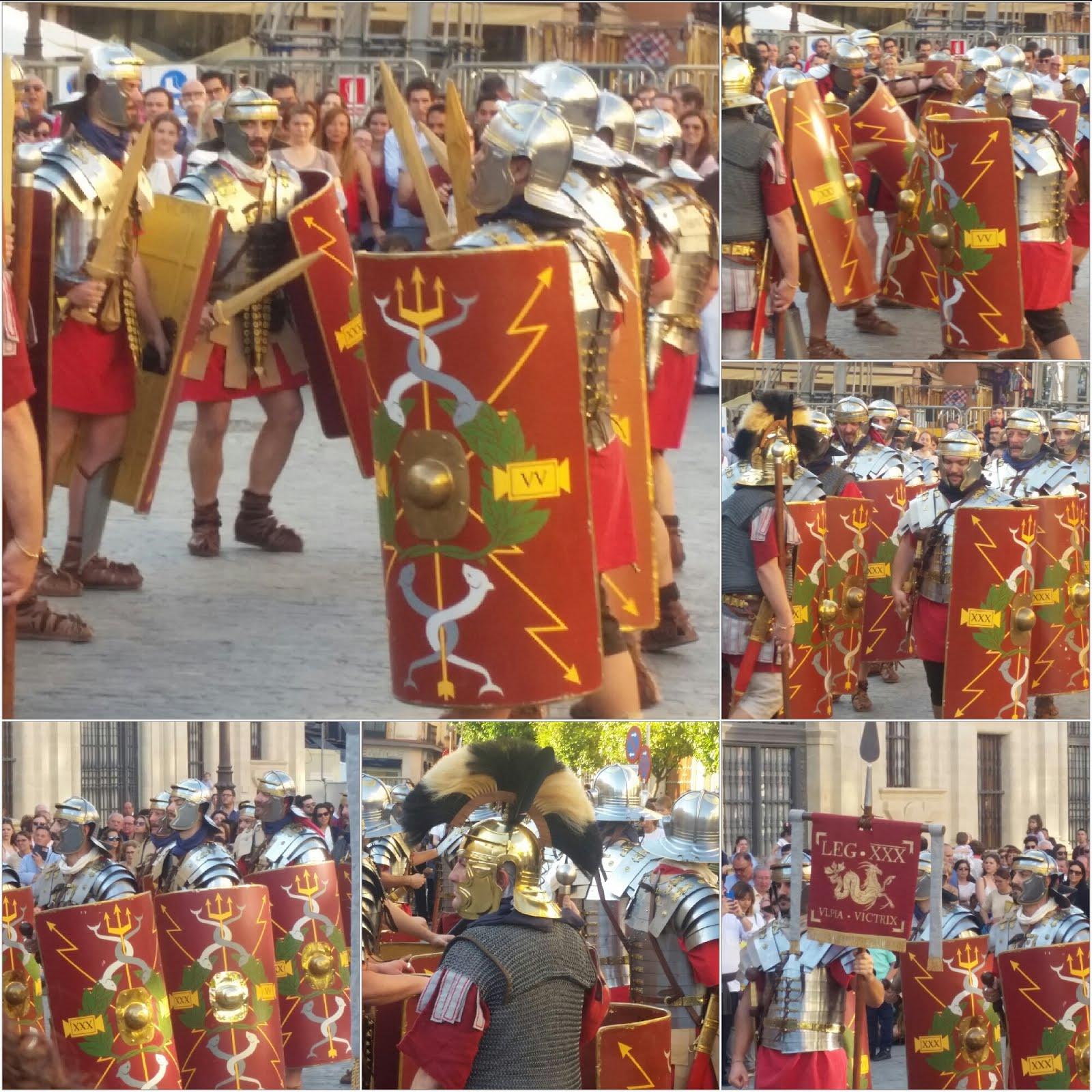 Le truppe di Adriano a Siviglia