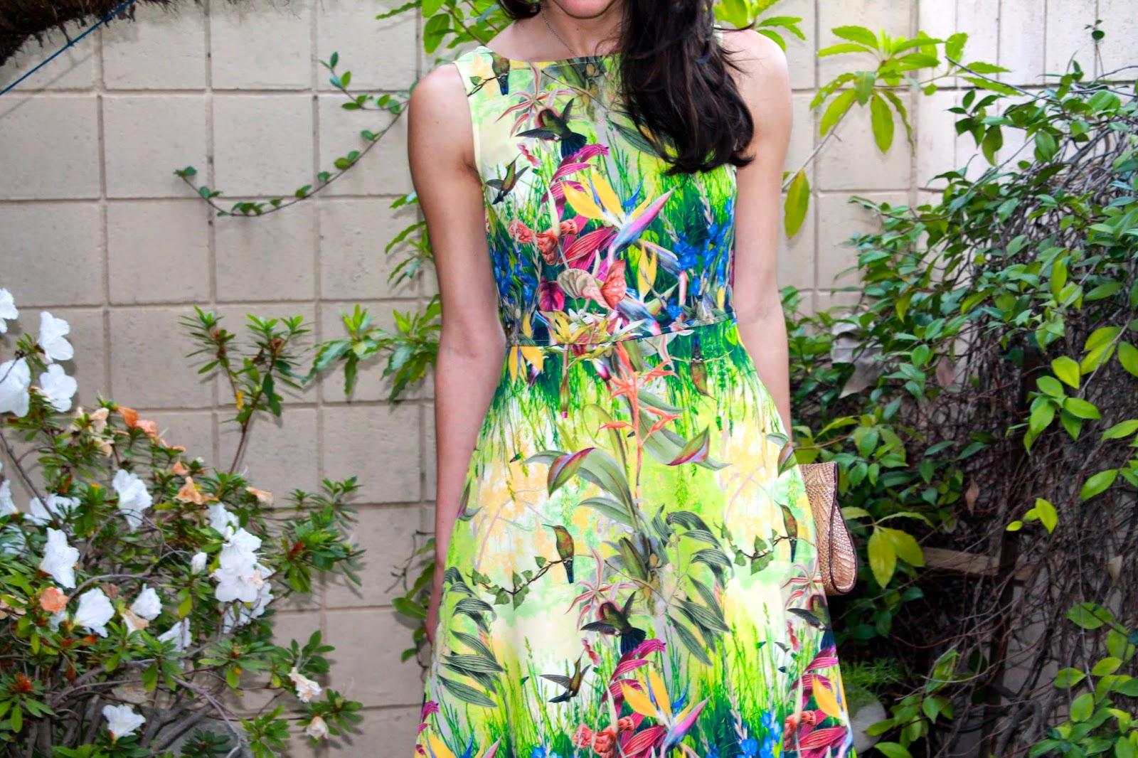 garden theme dress