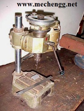 Photographic view of a micro (or mini) drilling machine