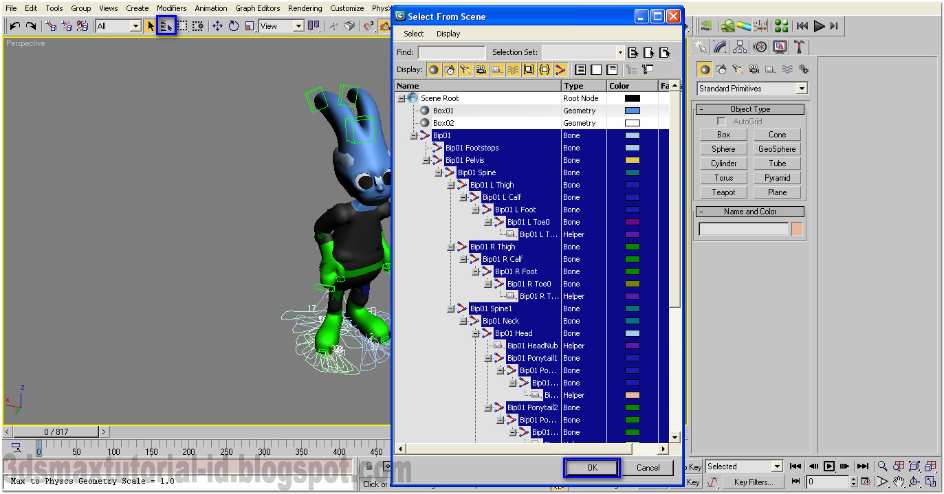 how to use biped in 3ds max