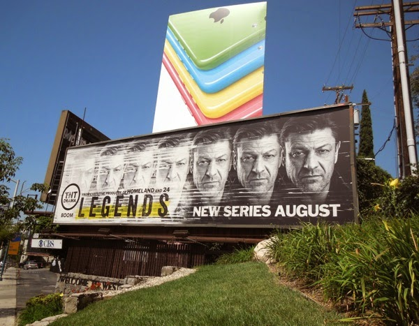 Sean Bean Legends series premiere billboard