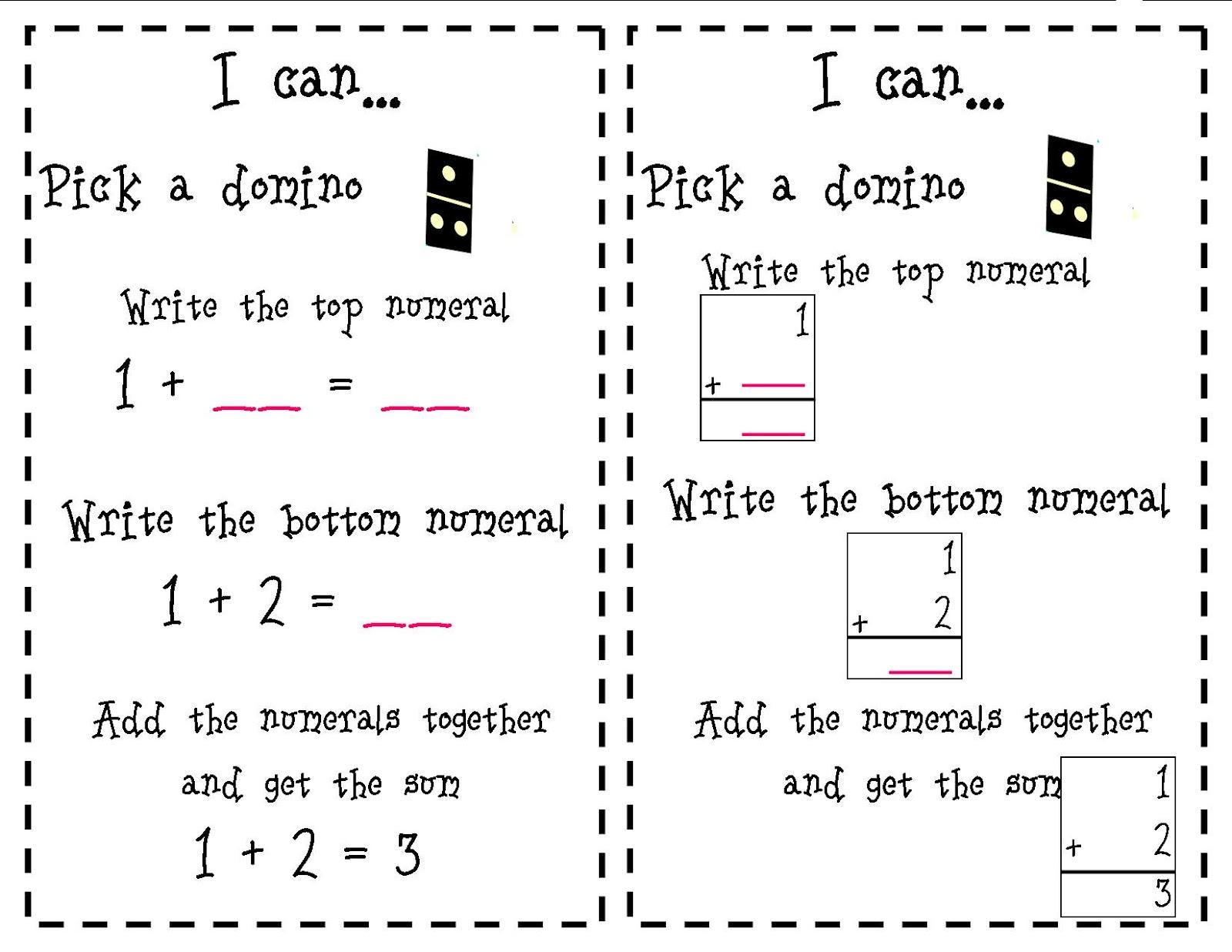 Mrs. Shelton's Kindergarten: Math ~ Make and Take