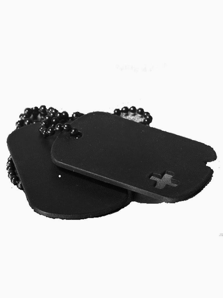 Andrew Christian Noir Dog Tag Necklace Black Gayrado