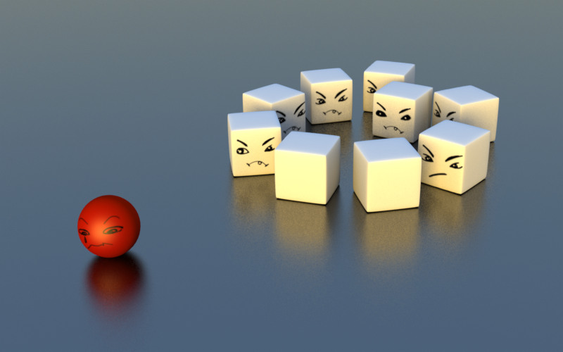 Family dispute white sugar cubes mean angry face poor red dot group
