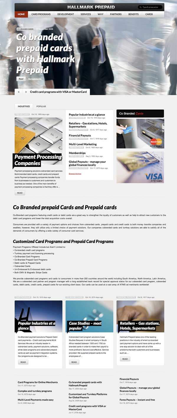 co branded card programs - prepaid card programs