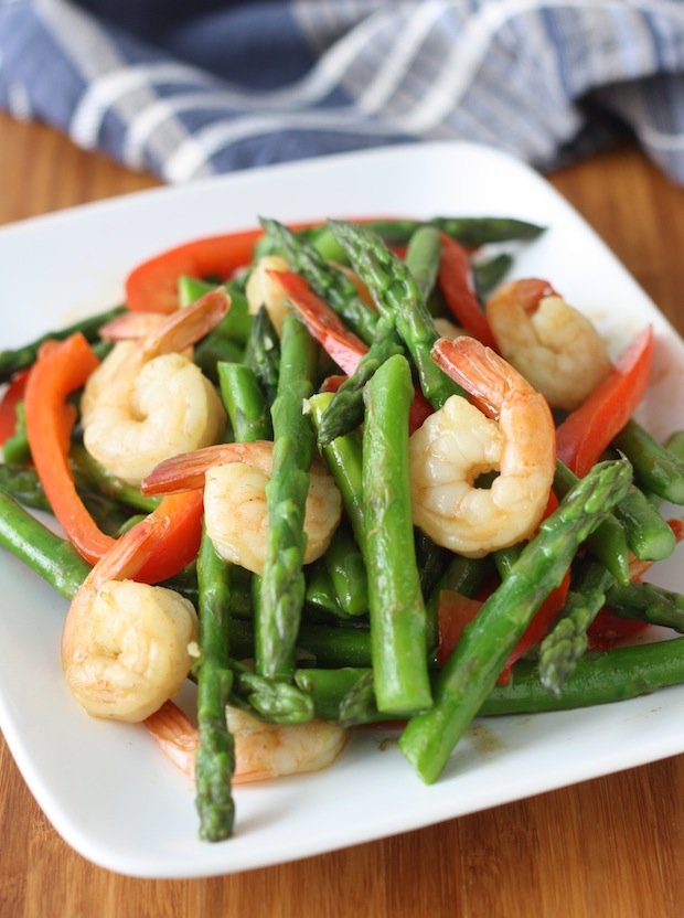 Thai Asparagus with Shrimp Stir Fry by SeasonWithSpice.com