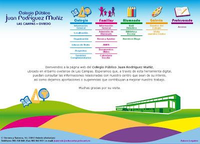 Web Colegio Público Juan Rodríguez Muñiz