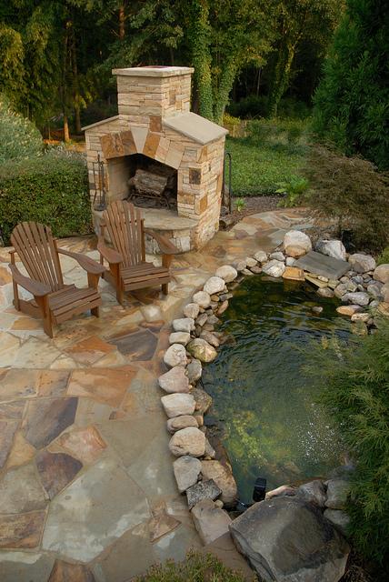 Dise o de chimeneas en patios y jardines patios y jardines - Diseno patios ...