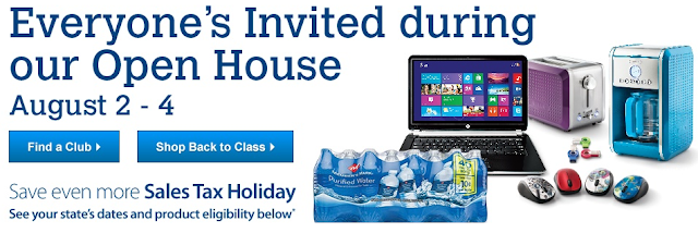 free sams club membership open house august